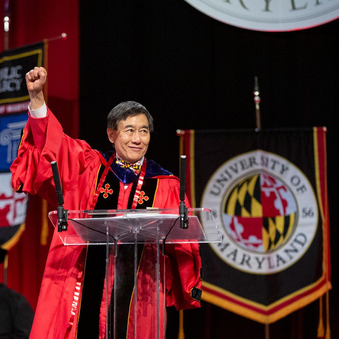 Wallace D. Loh, President, University of Maryland at Commencement